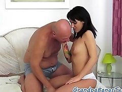 Teen babe passionately fucked by senior