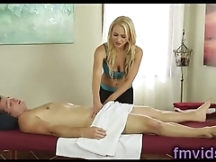 Stunning blonde Alix Lynx fucked after massage