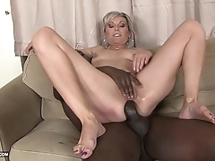 Teasing tight pussy interracial rough Negro anal fucking