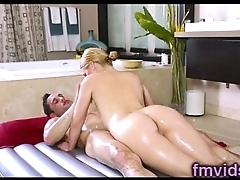 Abby Cross gives amazing nuru massage