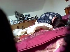 My mum in bedroom masturbating. Stifling cam