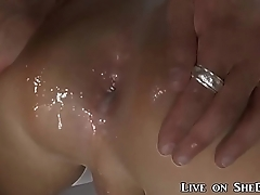 Blowing a Wad into her Tranny Ass