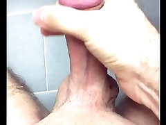 Long video - Rubbing my hard cock with moaning, dirty talk and lot of cum