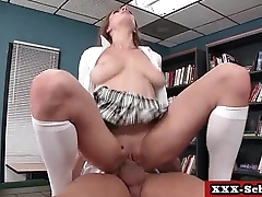 Big tit teacher fucked by horny student 11