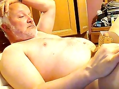 gaymanslaves.com sadistic old gay panhandler tortures his own cock on webcam