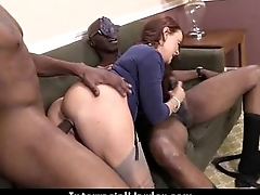 Busty Blonde Fucks and Sucks a Huge Black Monster Cock 13