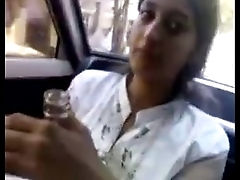 Beer Party and Desi Fuck in Car with Hindi Audio