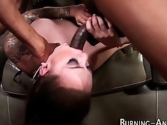 Goth fetish babe gets bbc