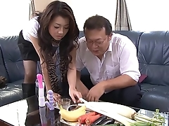 41Ticket - Sayuri Shiraishi Filled with Veggies n Dick (Uncensored JAV)