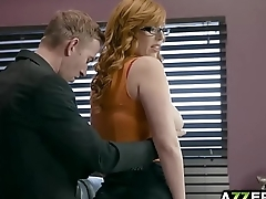 Busty Lauren Phillips loves fucking with her boss