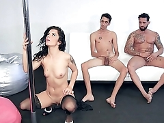 Stripping In To A Double Penetration