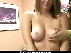 Amateur girl accepts cash for sex from stranger 24