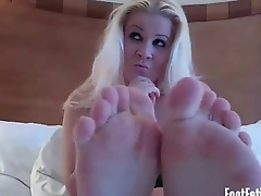 Get your cock nice and hard just about my feet