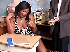 Super sexy chubby black chick loves to suck cock &amp_ eat cum