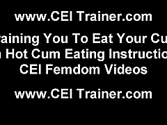 You are a cum hungry pervert CEI