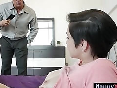 Babysitter Cadey Mercury pounded by her boss for money