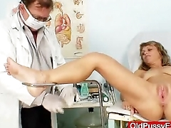 Separated lady naughty twat gyno inspection