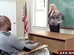 Busty schoolgirls and teachers fucked in classroom 01