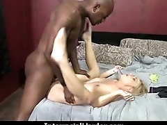 Teen fucked hard by a huge black cock 9
