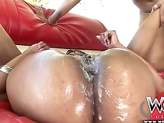 Anal Ebony Threesome