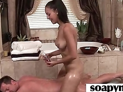 a very hot soapy massage and a hard fucking 19