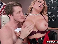 Schoolgirl and teachers get banged big tits 15