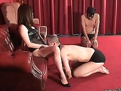 Japanese Femdom Hot Waxes BDSM Cock