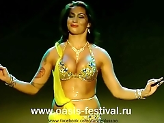 Erotic Hot Belly Dance Desolate Stage Performance- Perform With Drum (1).MP4