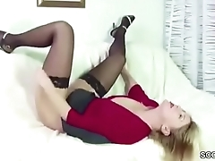 He Caught Step-Mom Masturbate and Seduce Her Surrounding Fuck