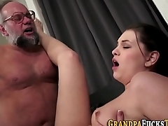 Whore creampied by oldy