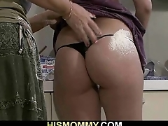 Mom toying her son'_s girlfriend pussy