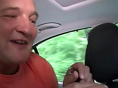 German Taxi MILF Helps Client Give Fuck