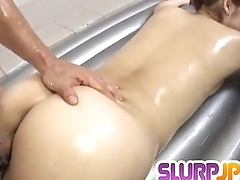Karin Kusunoki delights with cock inside her creamy bush