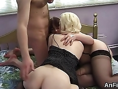 Slutty lesbo peaches are stretching and fisting anals